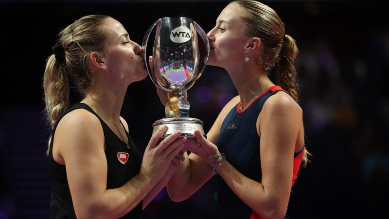 Hungarian Tennis Player Tímea Babos and French Partner Kristina Mladenovic Win WTA Doubles Championship post's picture