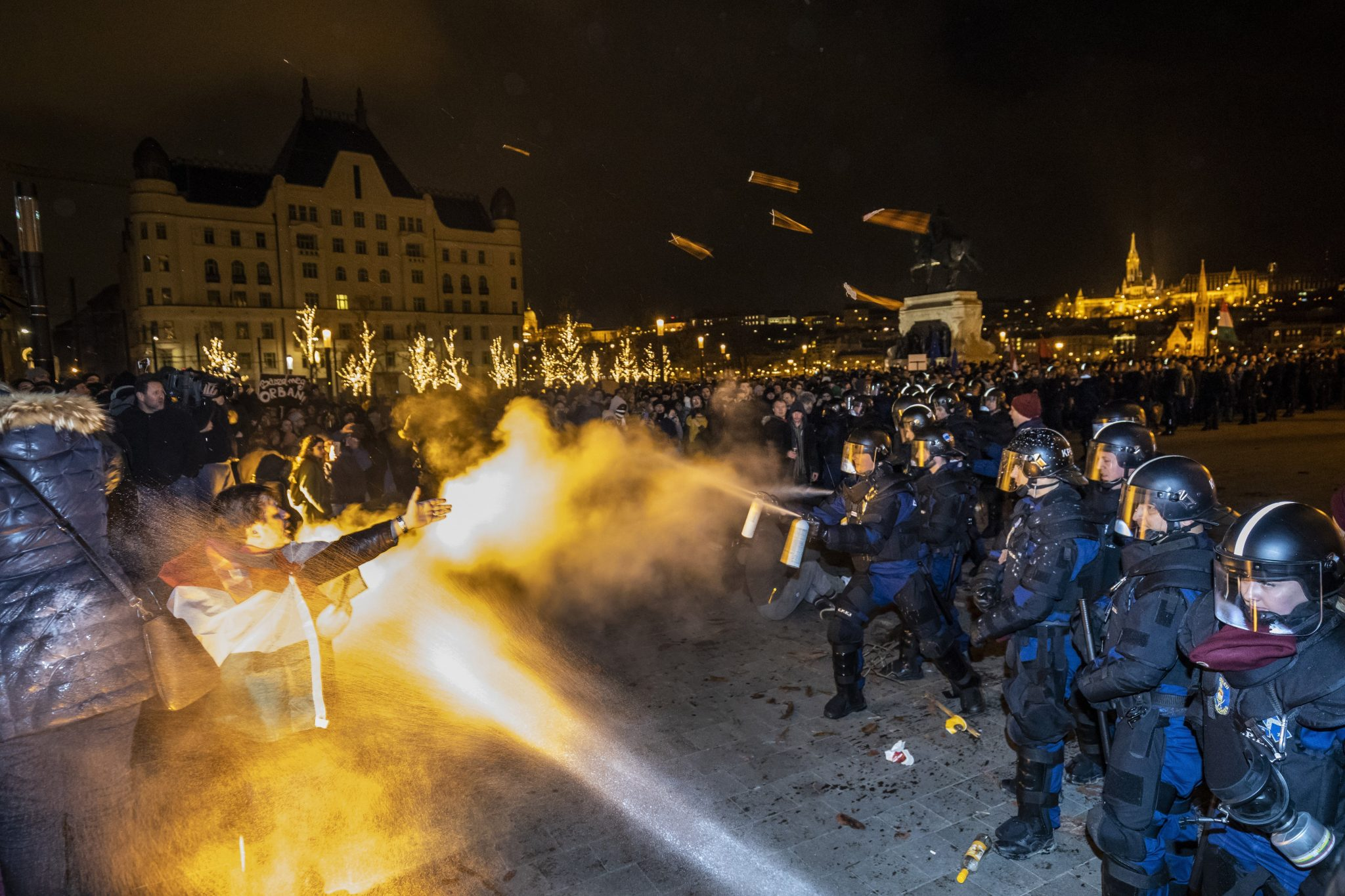 Fire, Aggression and Tear Gas: Demonstration Against