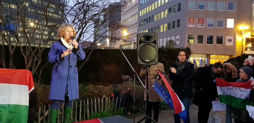 Sargentini, Hungarian Opposition Stage Anti-Govt Demo in Brussels post's picture