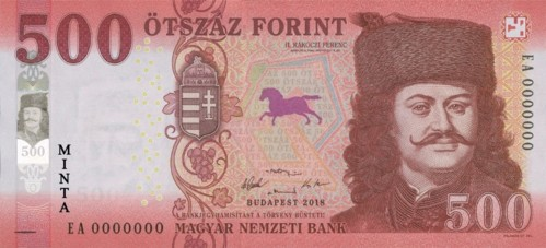 New 500 Forint Bill Enters Circulation post's picture