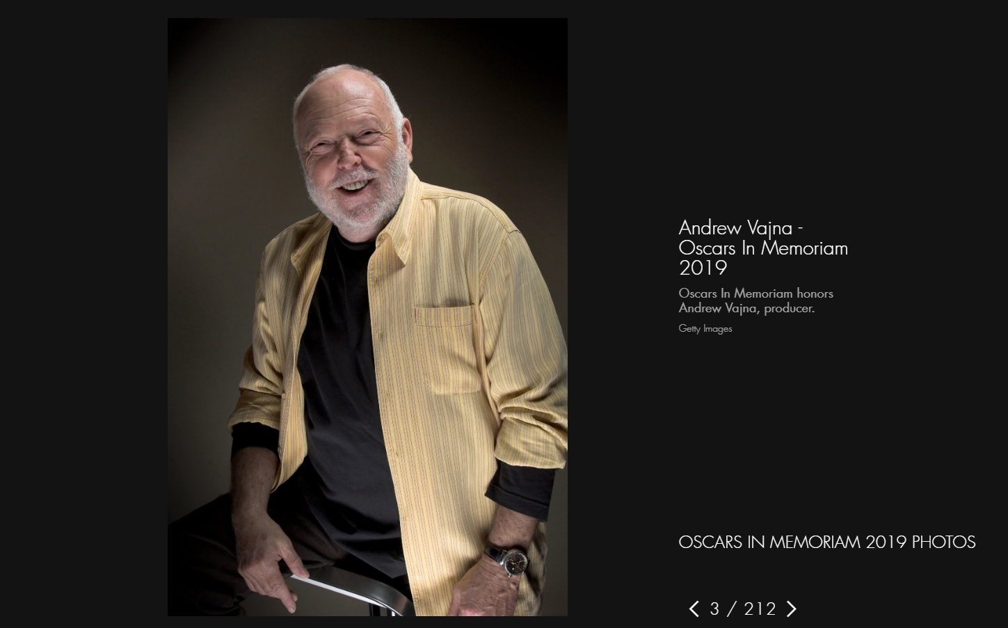 The Oscars Rectifies Vajna's 'In Memoriam' Snub with Online Tribute post's picture