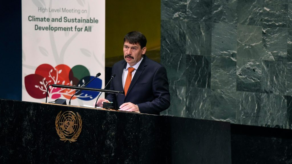 President Áder in UN: Paris Climate Agreement Not Working post's picture