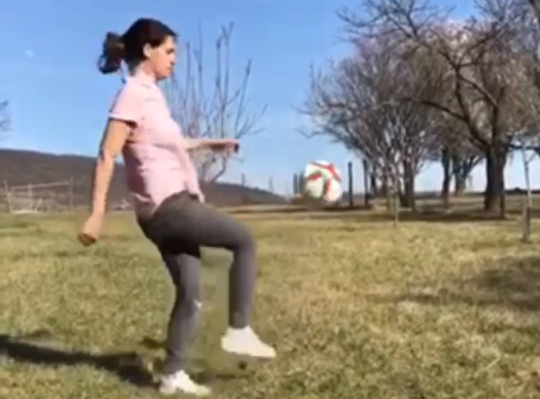 Minister of State for EU Relations Judit Varga Shows off Football Skills – Video! post's picture
