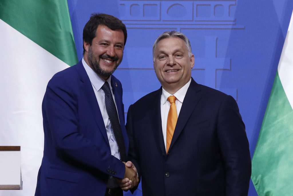 Orbán to Salvini: Hungary, V4 Support EU Plan to Help Italy post's picture