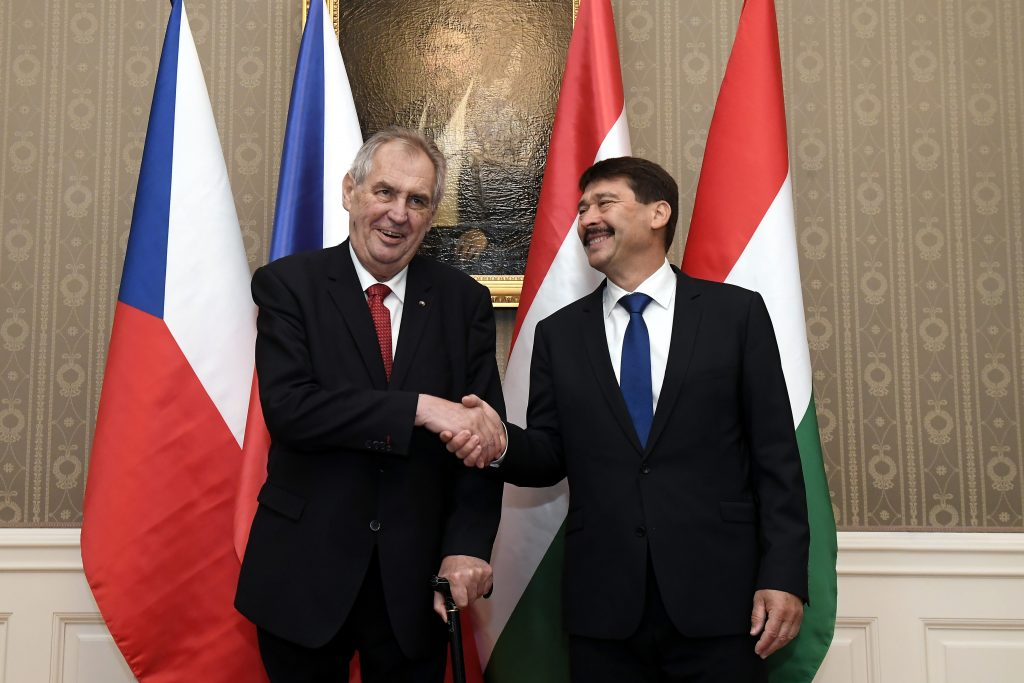 Áder Meets Czech President, Urges People to Vote on EP elections post's picture