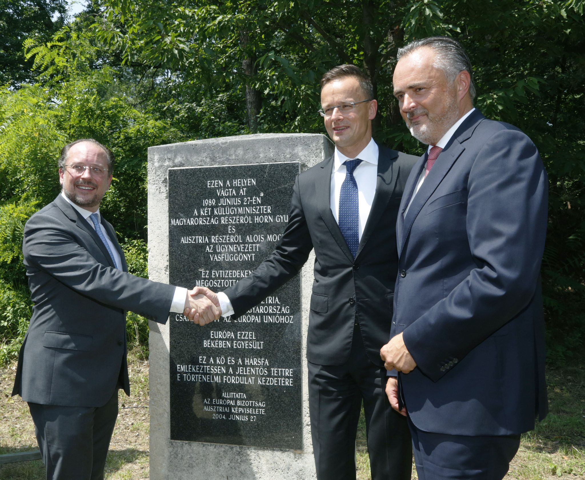 Hungarian, Austrian Foreign Ministers Mark 30th Anniversary of Iron Curtain Opening