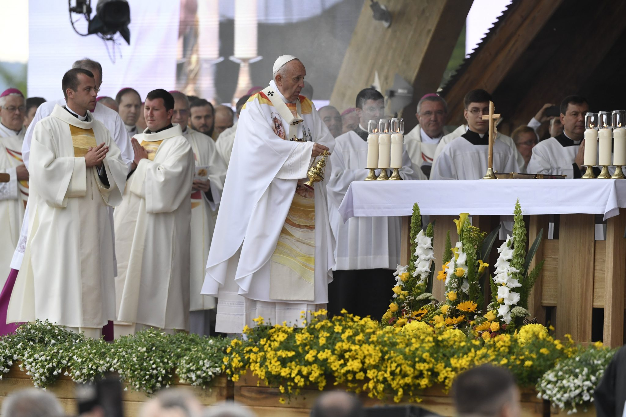 """Pope Francis in Transylvania: """"Csíksomlyó is a sign of dialogue, unity and fraternity"""" post's picture"""