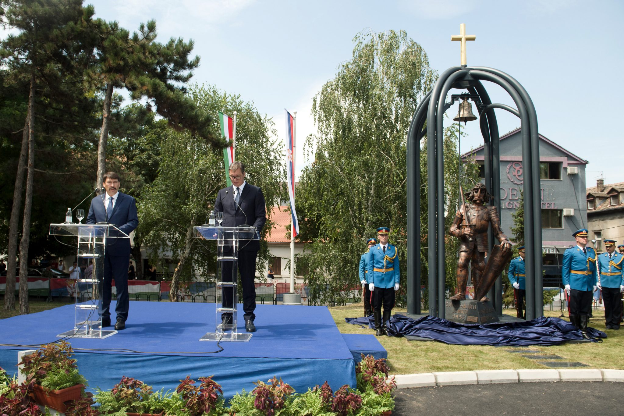 Hungary, Serbia Presidents Attend Hunyadi Monument Inauguration post's picture