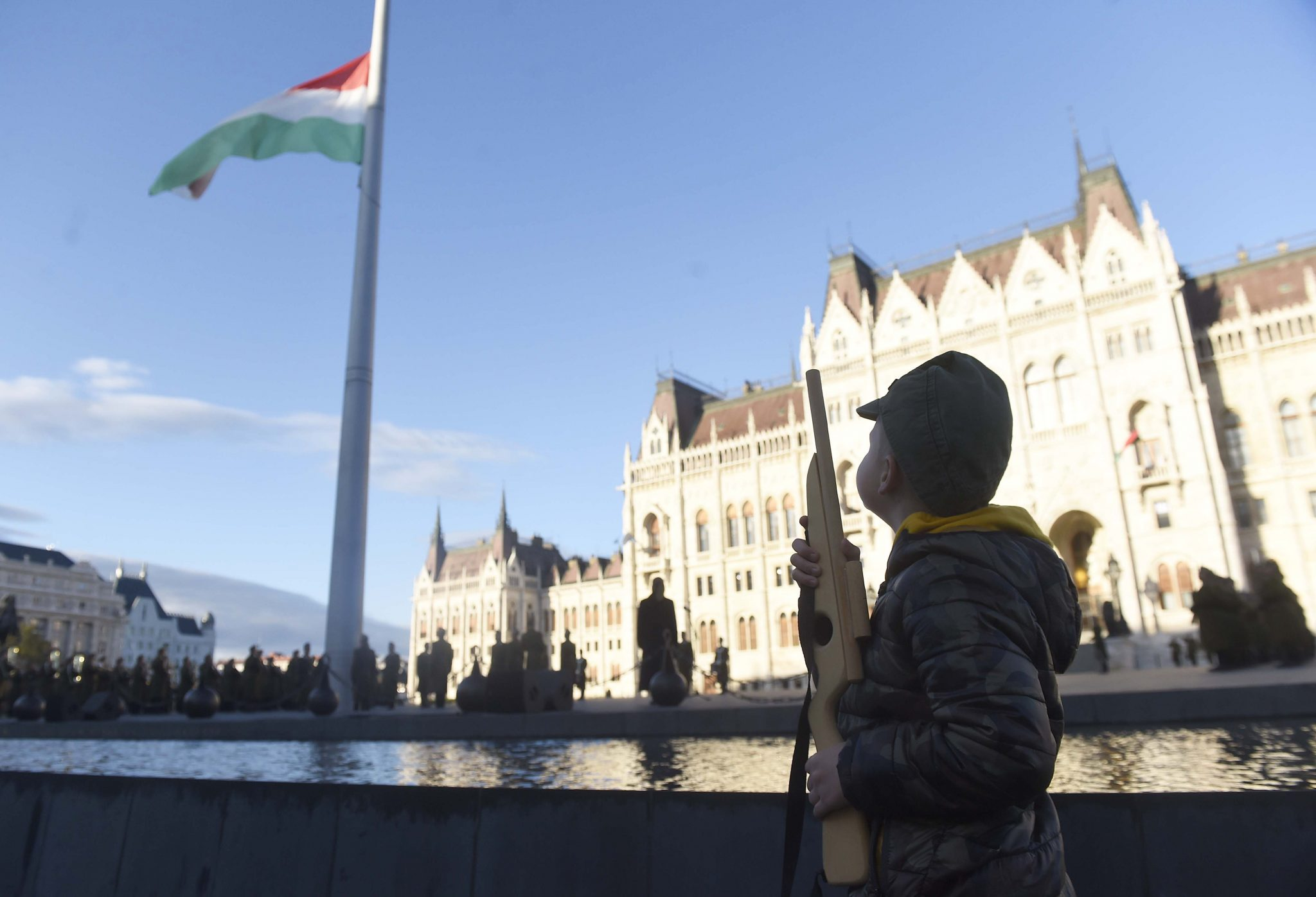 Hungarian Flag at Half-mast to Mark Crushing of 1956 Uprising post's picture