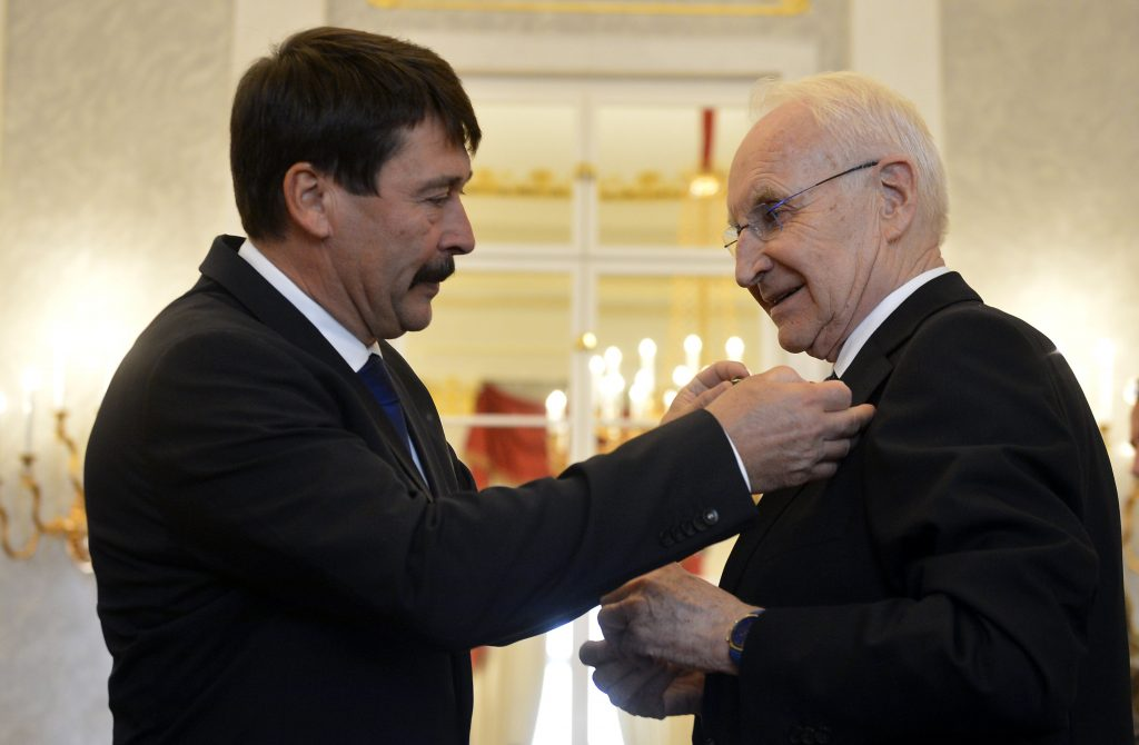 President Áder Decorates 'Patriot, Committed European' Stoiber post's picture