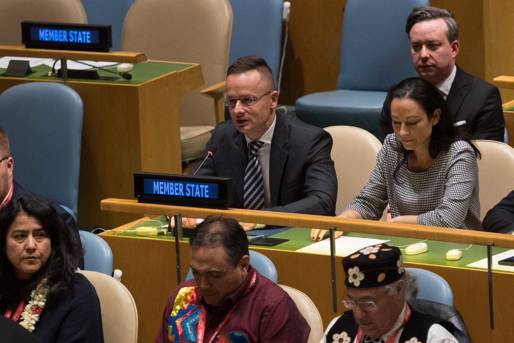 Foreign Minister: Hungary Supports UN Efforts to Protect National Minorities post's picture