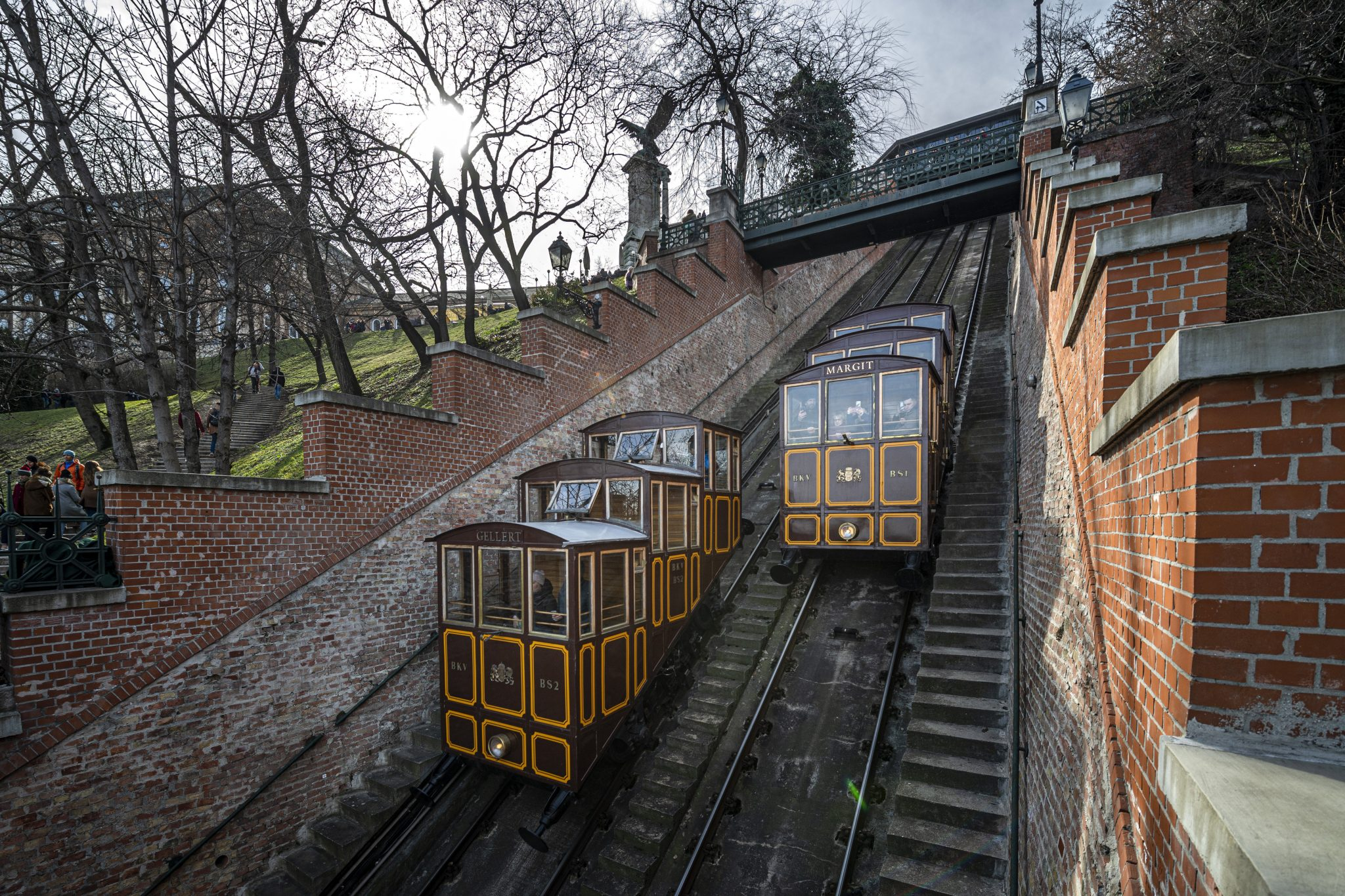 World Heritage Site Buda Castle Hill Funicular Built 150 Years Ago - Hungary Today