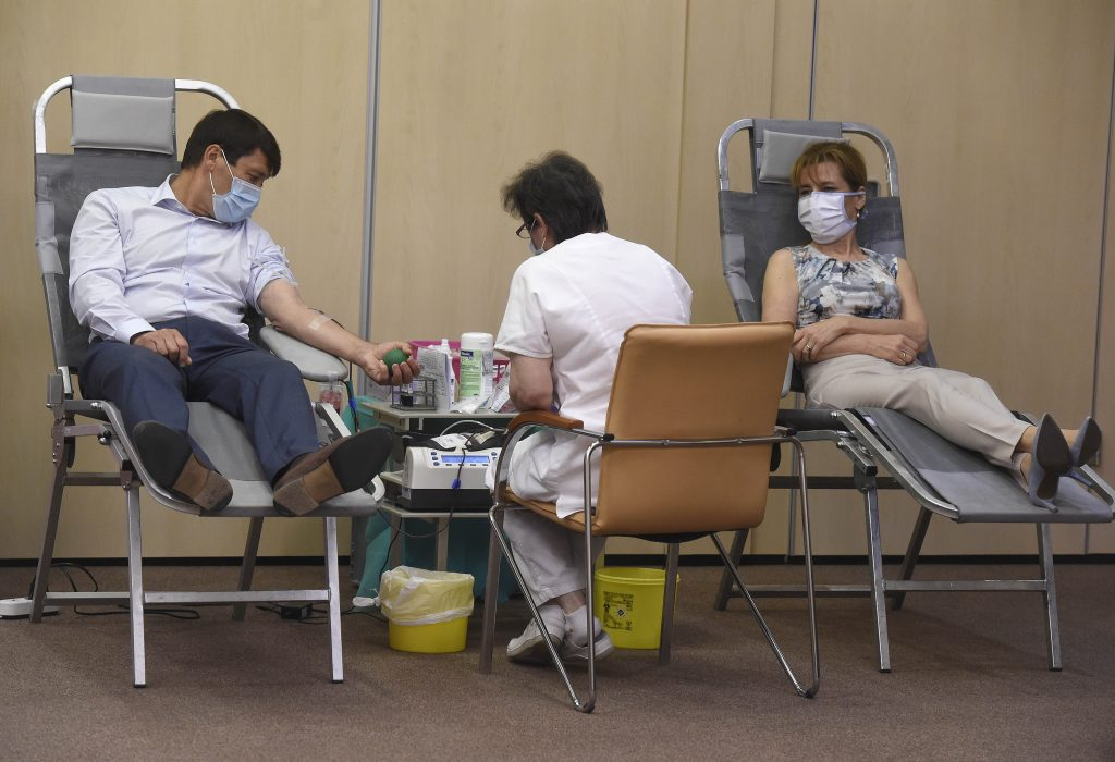 Coronavirus: President Áder, First Lady Herczegh Participate in Blood Donation Scheme post's picture