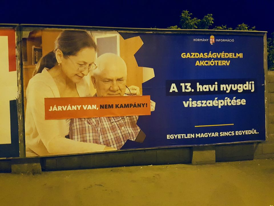 'Momentum' Protests with Sticker Campaign Against Govt's New Billboards post's picture