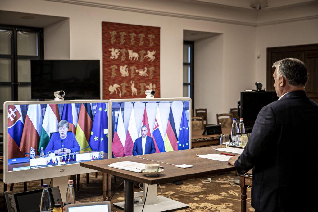 Coronavirus: Visegrad Leaders Hold Summit with Merkel post's picture
