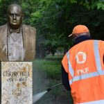 Vandalized Churchill Statue Cleaned