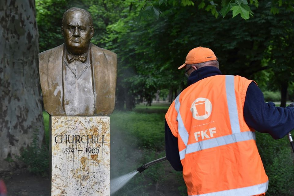 Vandalized Churchill Statue Cleaned post's picture