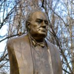 Churchill Statue in Budapest Damaged with Words 'Nazi', 'Racist' and 'BLM' Spraypainted on It