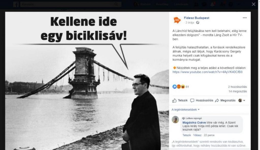 Fidesz Post with Mayor Karácsony's Head Photoshopped to Arrow Cross Leader Szálasi's Body Causes Outrage post's picture