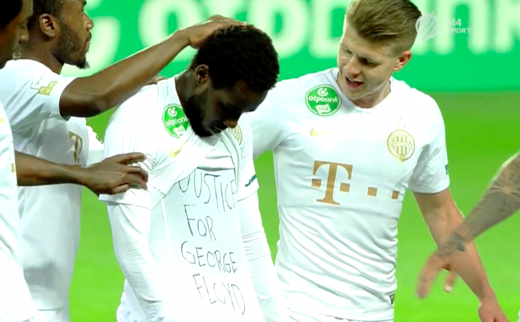 'Justice for George Floyd': Ferencváros Winger Tokmac Nguen Celebrates Goal with Political Message post's picture
