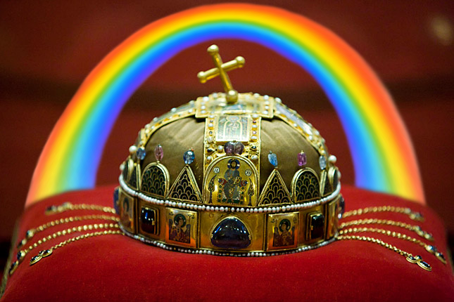 Szent Korona Radio Files Charges for This Year's Pride Logo Featuring the Holy Crown