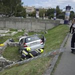 Car Rolls Over Ancient Ruins in Óbuda
