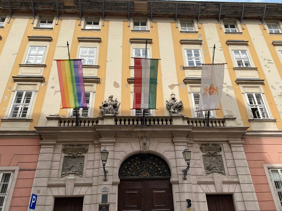 Rainbow Flags Hung on Budapest City Halls Removed and Vandalised by Far-right Individuals
