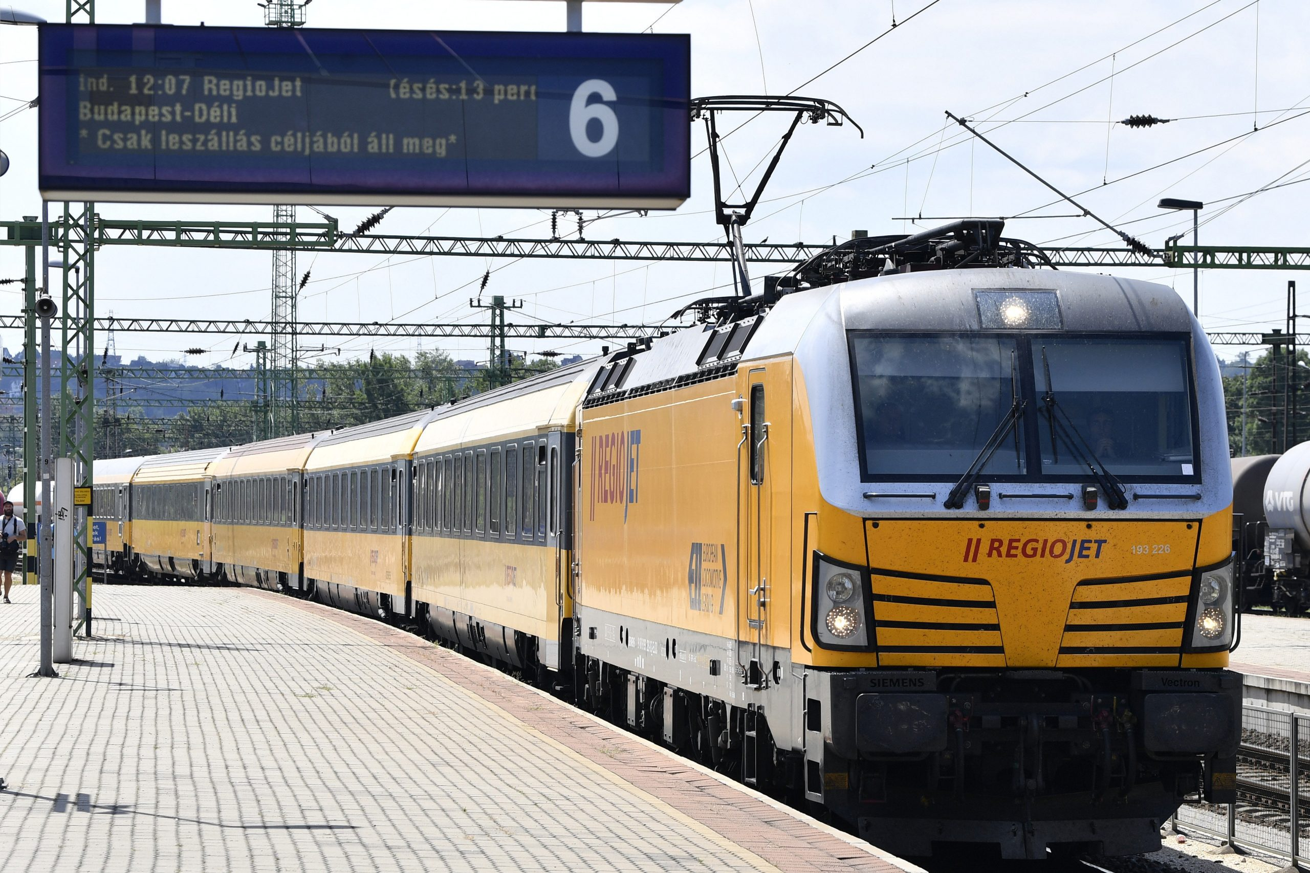 RegioJet Launches Prague-Brno-Vienna-Budapest Railway Service