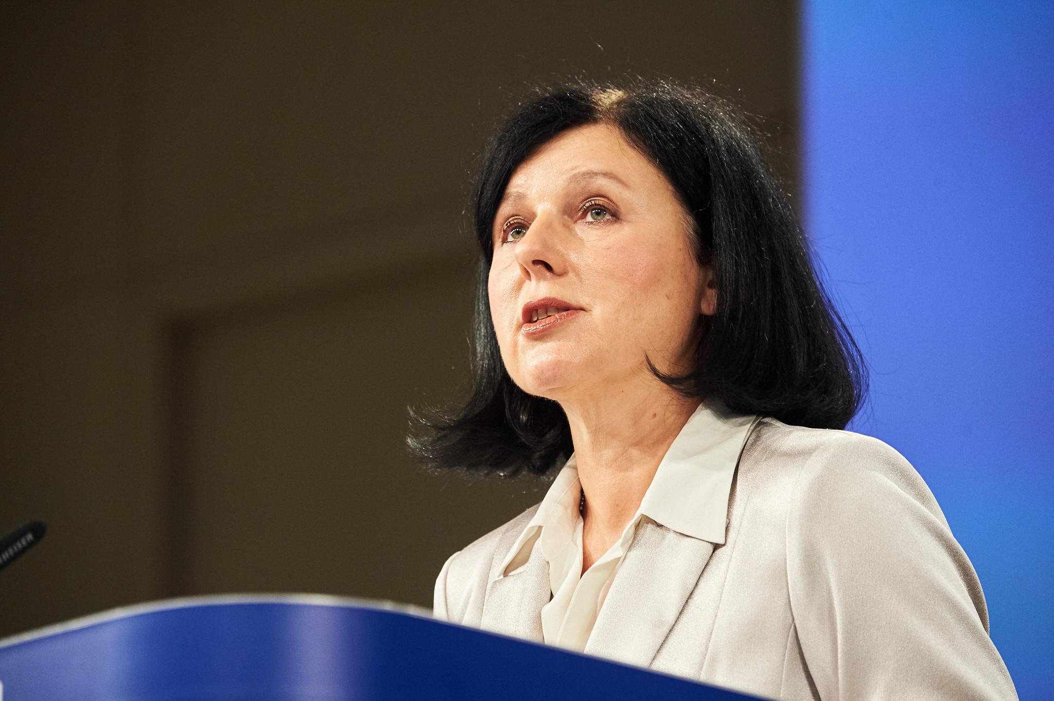 Government Spokesman Calls for EC Vice-President Jourova's Resignation
