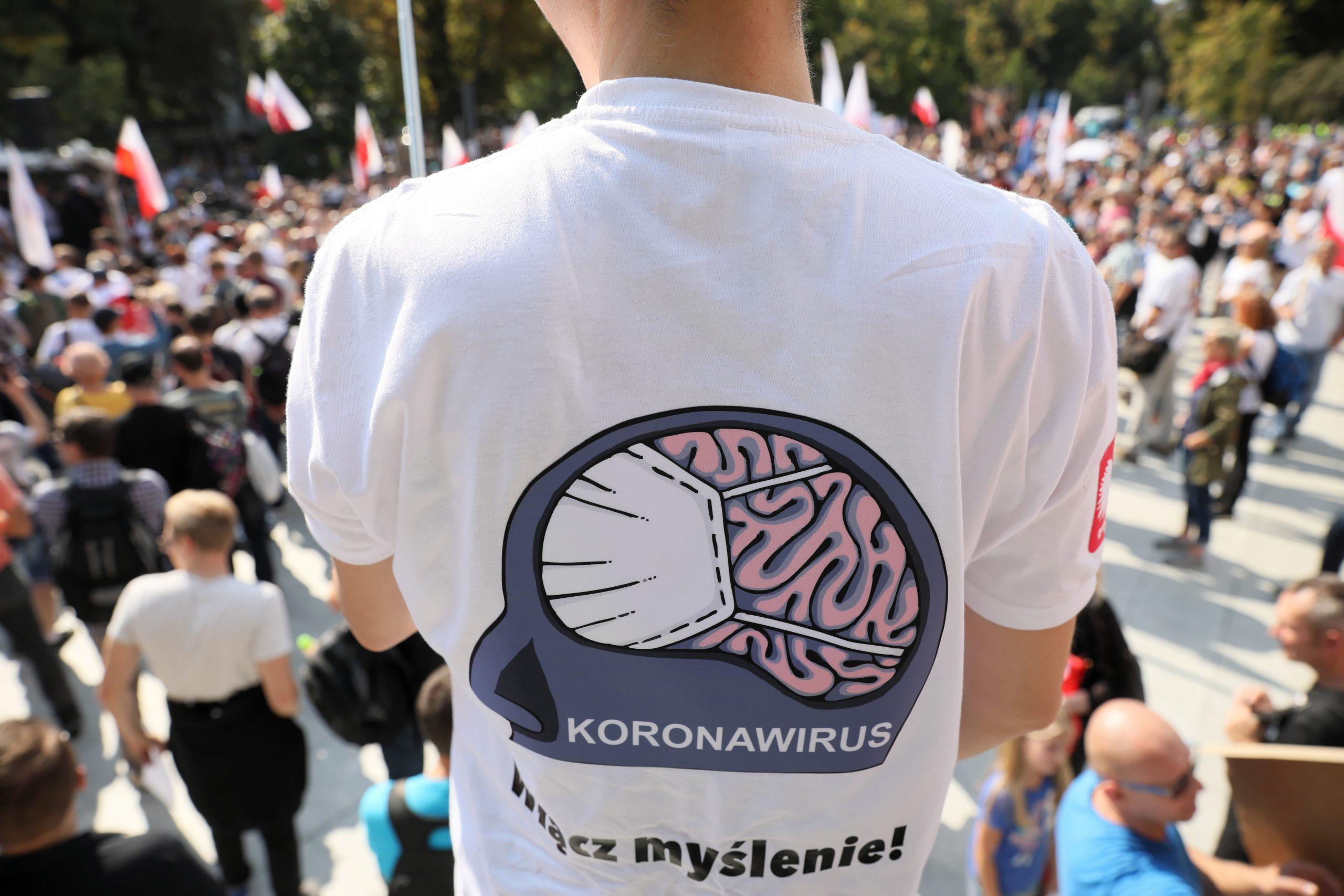 Coronavirus Skeptics Protest against Covid-19 Restrictions in Budapest