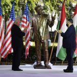 Orbán Unveils George Bush Monument: 'He Shared Central Europe's Dream of Freedom and Independence'