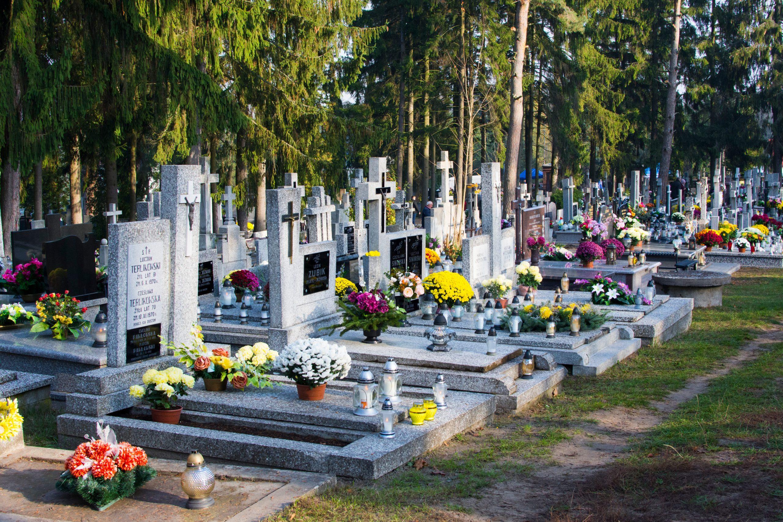 A graveyard in Poland