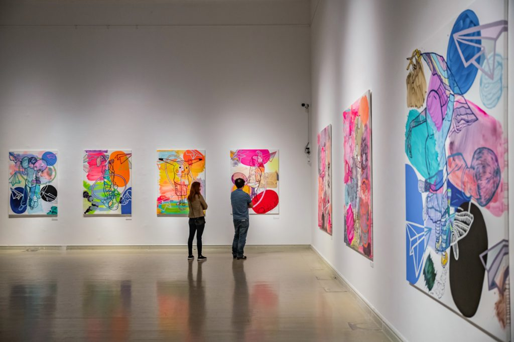Kunsthalle Exhibition: Falling Through Nóra Soós' Vibrant Paintings During a Pandemic post's picture