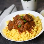 Maroon Ambrosia: Hungarian Venison Stew with Juniper Berries and Red Wine