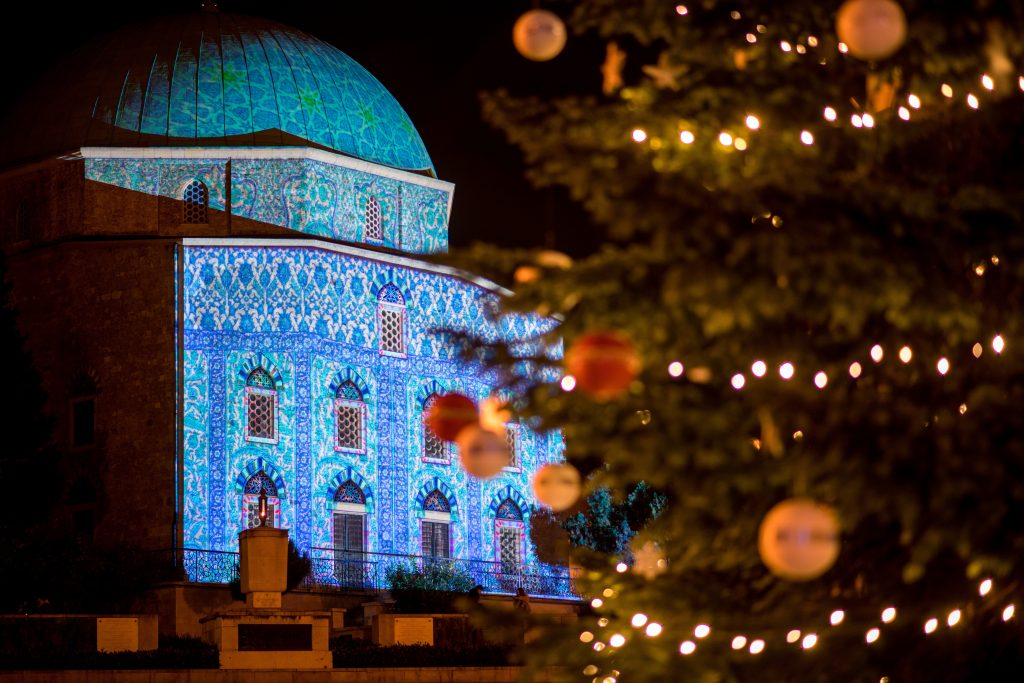 Advent in Pécs: Former Mosque Now Unique Church Decorated with Light Installation post's picture