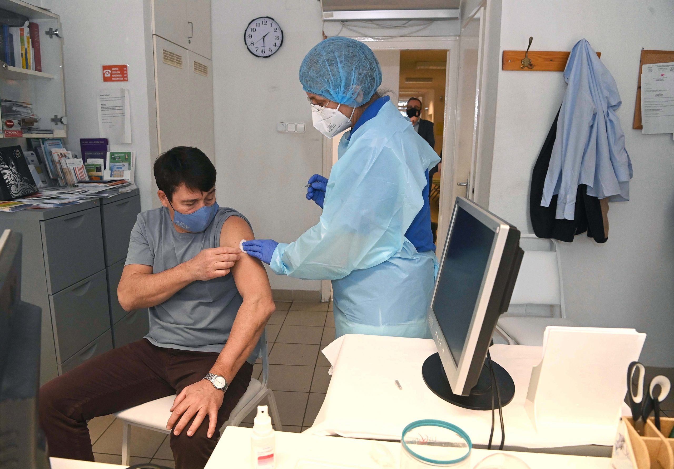 President Áder Receives First Shot of Sinopharm Vaccine