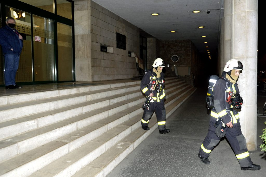 Smoke in National Assembly Office Building Near Parliament post's picture