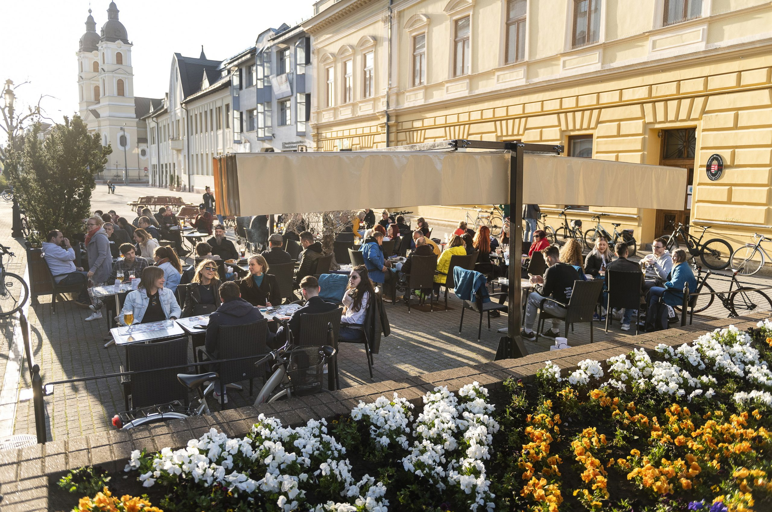 Festival Feeling in Budapest Streets as Terraces Reopen