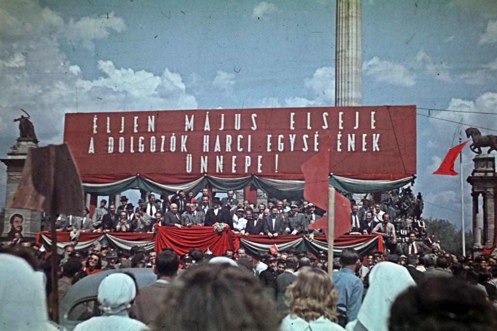 Pictures of Hungary's Post-WW2 May Day Captures Spread of Communism Throughout Society post's picture