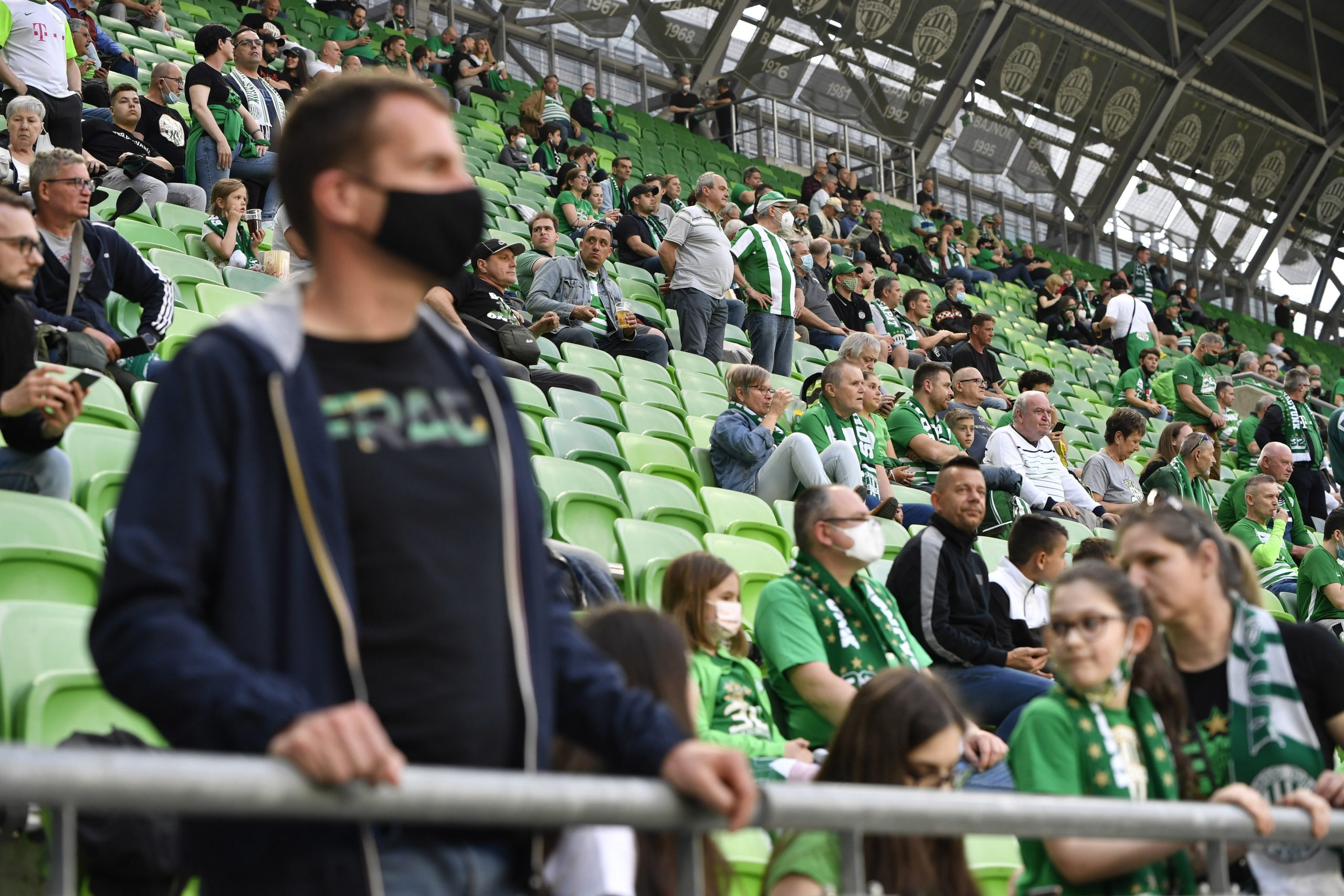 Stadiums Reopened for Those with Immunity Certificate