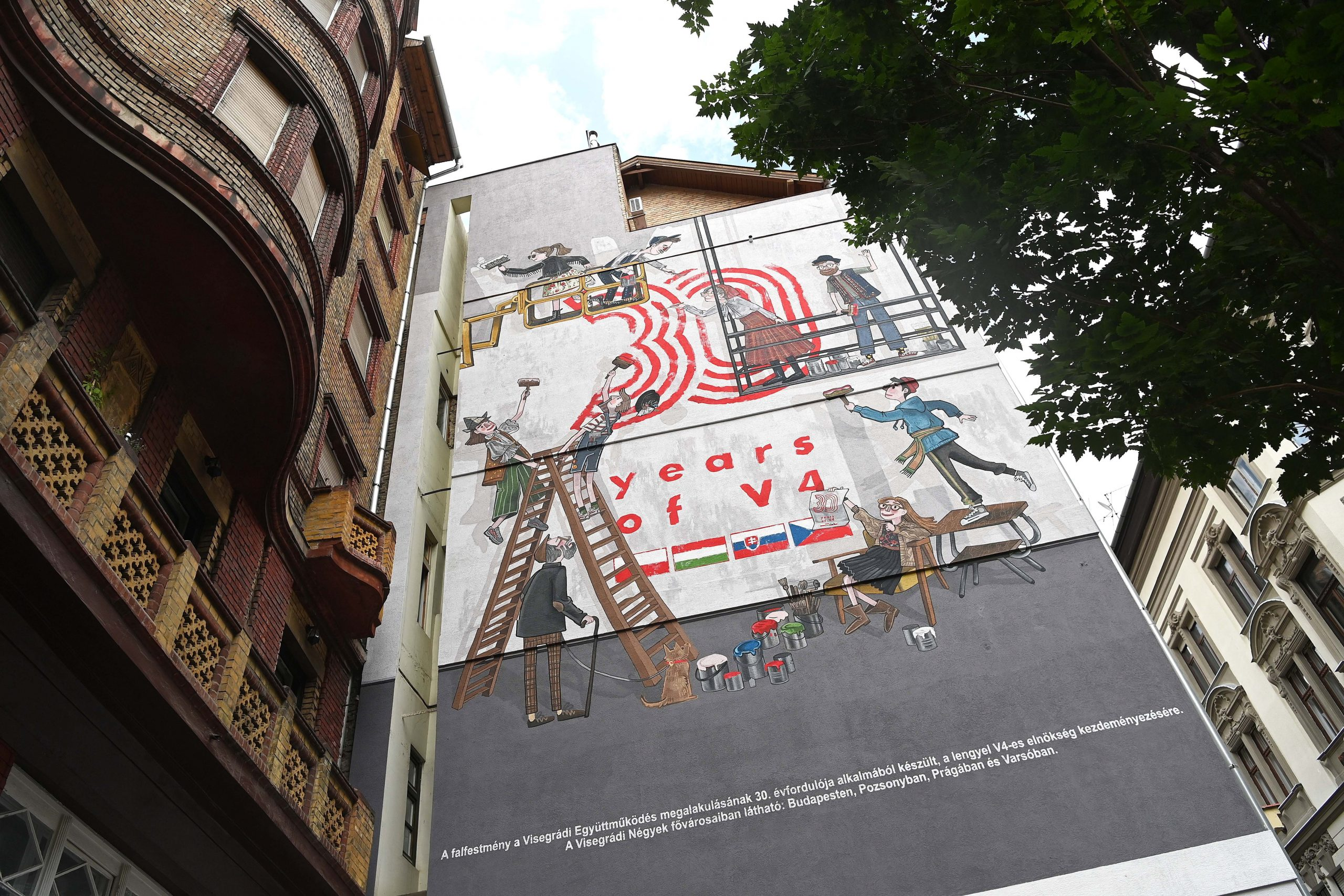 Mural Marking 30th Anniversary of Visegrad Group Inaugurated in Budapest