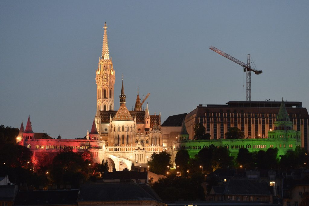 Fisherman's Bastion Lit With Hungarian Tricolor On National Cohesion Day post's picture
