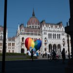 NGOs Raise Rainbow Balloon at Parliament as LGBT+ Restrictive Law Goes into Effect