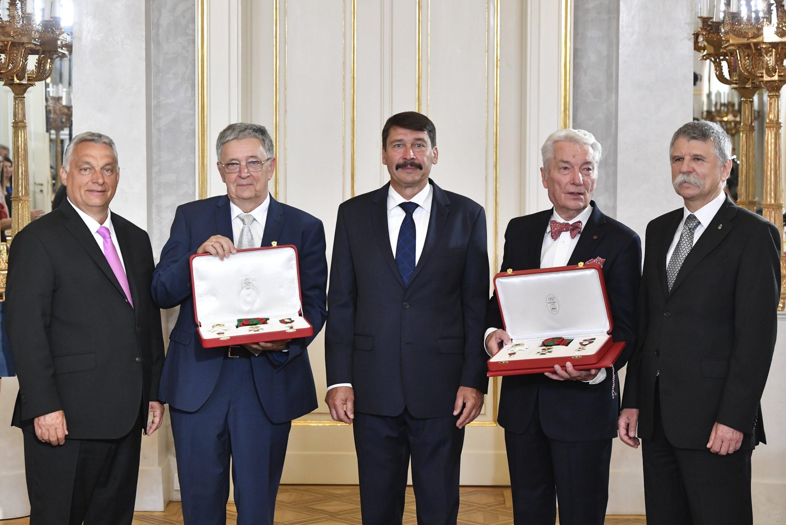 Former Science Academy Leaders E. Sylvester Vizi and László Lovász Receive the Hungarian Order of Saint Stephen, Hungary's Highest Decoration