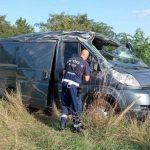 Van Carrying Migrants Overturns near Austria Border
