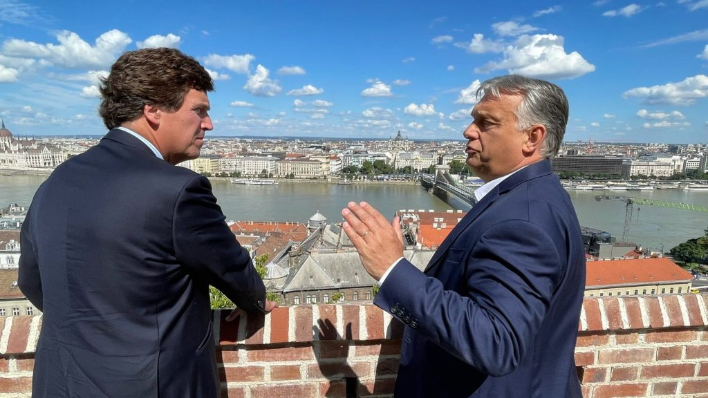 PM Orbán Meets Popular Right-wing Political Commentator and Host Tucker Carlson post's picture