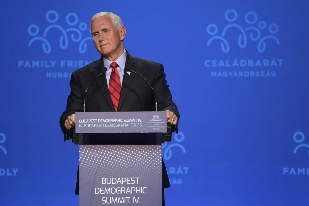 Former US Vice President Pence Praises Hungary Govt's Vision on Family Policy post's picture