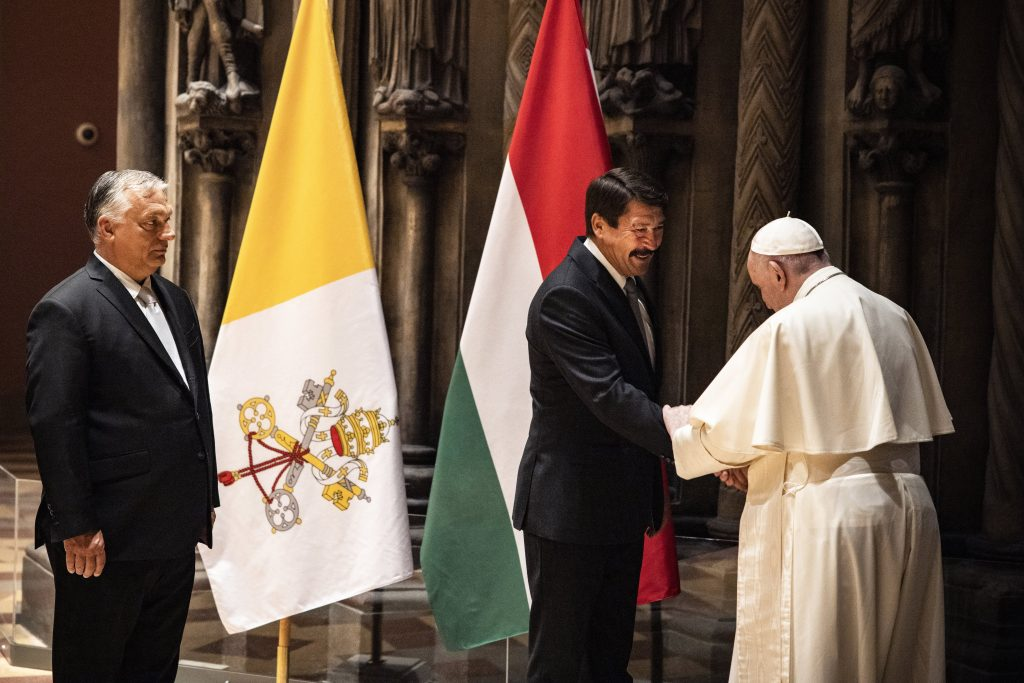 President Áder: Created World and Family Protection Discussed with Pope Francis post's picture