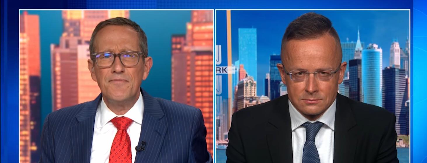 CNN's Richard Quest Confronts FM Szijjártó About Child Protection Law