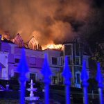 Med Hotel in Tamásipuszta Catches Fire